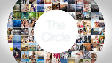 The Circle Mosaic Slideshow After Effects Project