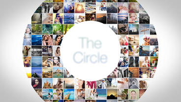 The Circle Mosaic Slideshow After Effects Template