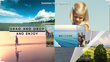 Summer fast opener style1 After Effects Template