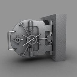 Vault Door 3D Model