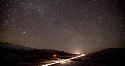 Stars and Milky Way Time Lapse Image