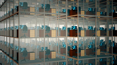 Empty Office Cubicles Animation