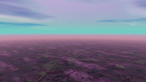 Abstract landscape cyan sky Animation