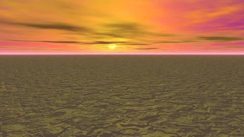 Abstract landscape orange sky Animation
