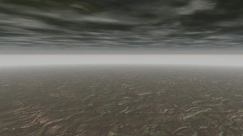Abstract landscape grey clouds Animation