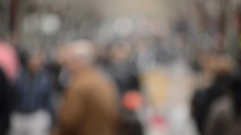 Dramatic Blur Crowd Stock Video Footage