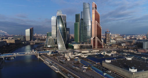 Skyscraper Moscow city Footage