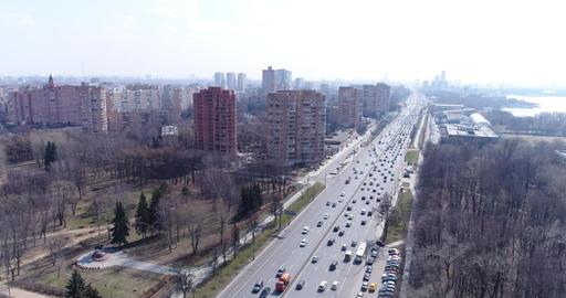 Aerial view Leningradskoye Highway