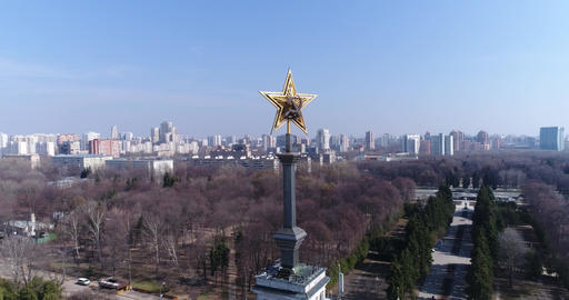 Five-pointed star of the USSR on the spire of the building ビデオ