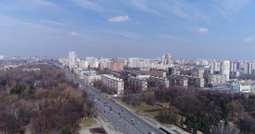 Leningradskoye Highway, Moscow Footage