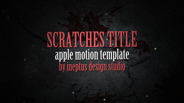 Scratches title Apple Motion Template