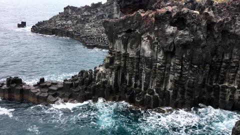 Jejuisland Columnar joint Shoreline 1 ビデオ