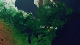 Montreal - Canada zoom in from space Animation