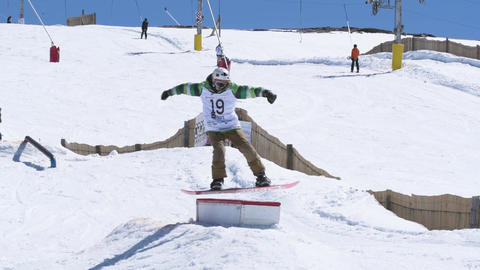 Guilherme Lopes during the Snowboard National Championships Footage