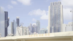 Dubai downtown horizon cityscape video HD UAE video. City modern skyscrapers Footage