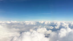 Cloudscape sky HD aerial video background Flying over сumulus clouds Footage