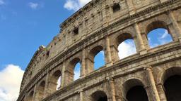 Colosseum amphitheatre ancient ruins Rome Italy HD video. Europe travel landmark Footage