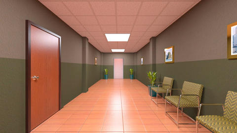 Hallway CG動画素材