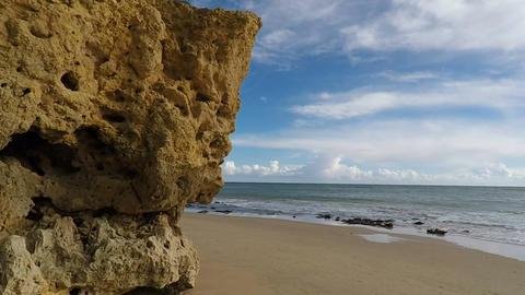 algarve coast in armacao de Pera Footage