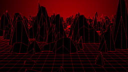 Red Digital mountain Animation
