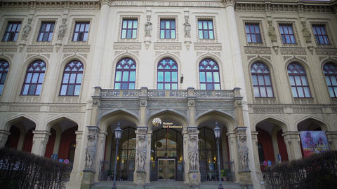 Beautiful facade of Museum Five Continents in Munich, Germany, tourism Footage