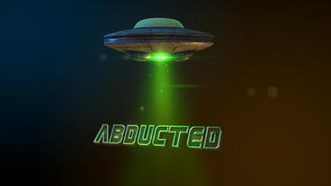 Abducted - UFO Abduction Beam Logo Stinger After Effects Template