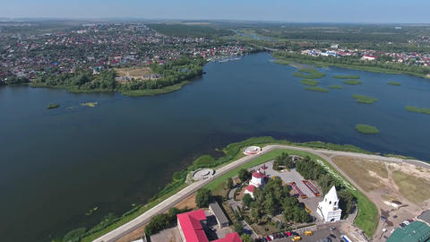 Aerial view on Syzran city Russia Footage