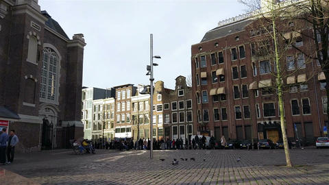 Westerkerk church in the historical center of Amsterdam, Holland Filmmaterial