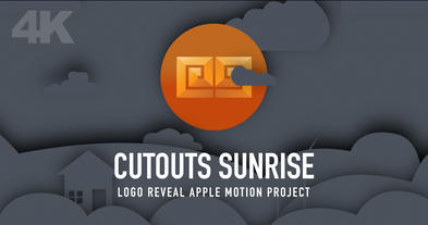 CUTOUTS SUNRISE Apple Motion-Vorlage