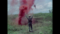 Vietnam War - Popping Red Smoke For Patrol Extraction 1967 Filmmaterial