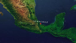 Veracruz - Mexico zoom in from space Animation