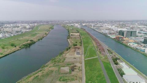 Landscape as seen by bird's-eye view Footage