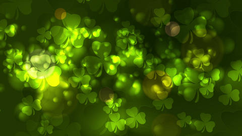 St. Patricks Day green bokeh abstract video animation