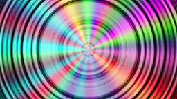 Abstract rotating rainbow colored circles background Animation