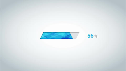 Blue crystal download percent interface on the light gradient Animation