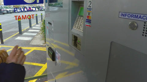 ATM Card Operation Footage