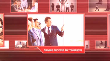 Red Business Slideshow After Effects Template