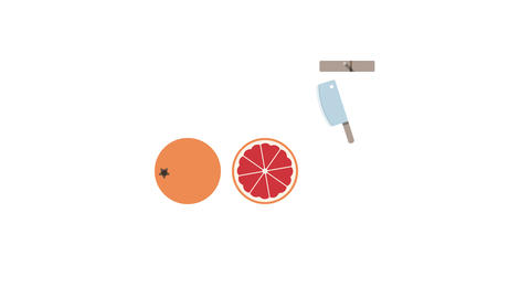 Grapefruit fruit for juice smoothies. Looped animation with alpha channel Animation