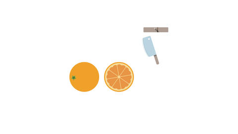 Orange fruit for juice smoothies. Looped animation with alpha channel Animation