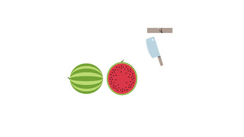 Watermelon fruit for juice smoothies. Looped animation with alpha channel Animation