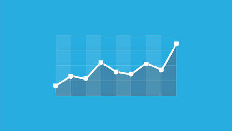 Info graphic business graph chart seamless loop animation flat style Animation