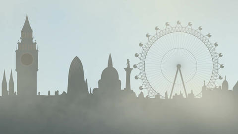 Fog in London city CG動画素材