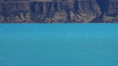 pukaki lake and waves Footage