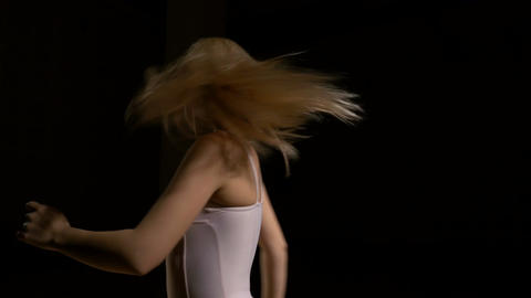 Contemporary dancer performing dance elements Footage