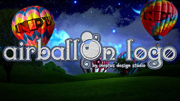 Airballon logo Plantilla de Apple Motion