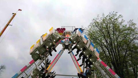 Swinging amusement Footage
