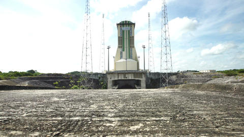 The launch area for Soyuz at Guiana Space Centre Footage