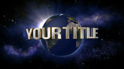 Universe Title Reveal After Effects Template