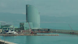 Spain Barcelona 001 the W Barcelona hotel at shore Filmmaterial