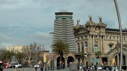 Spain Barcelona 006 Edifici Port de Barcelona Footage